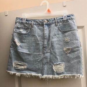 Brand new!! Forever 21 ripped jean skirt